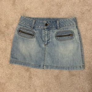 American Eagle Outfitters Faded Jean Skirt